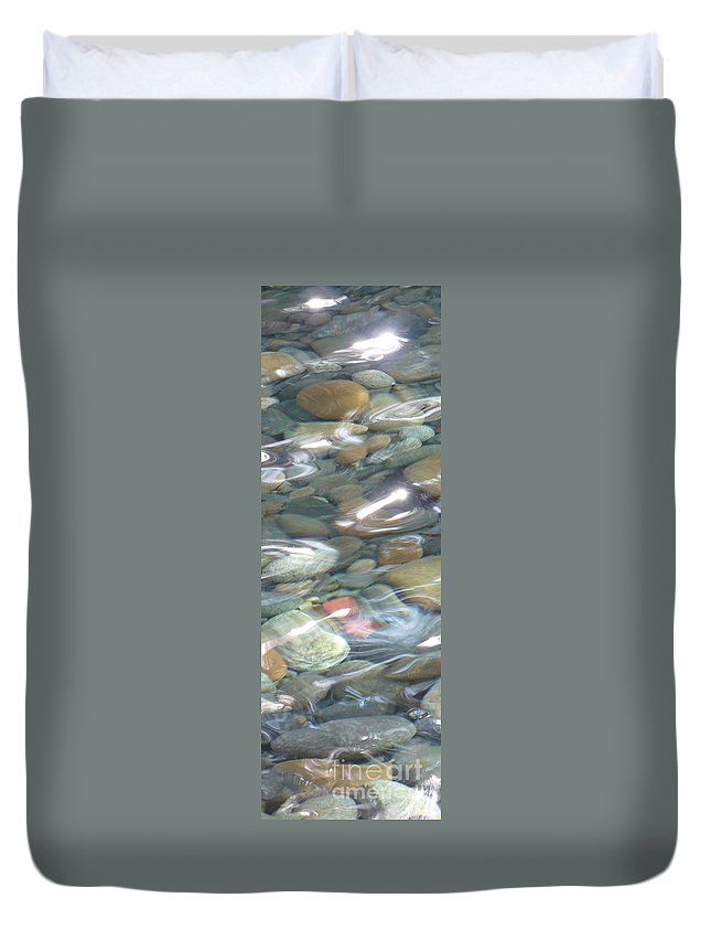 Sparkling Water Duvet Cover featuring the photograph Sparkling Water On Rocky Creek 2 by Carol Groenen