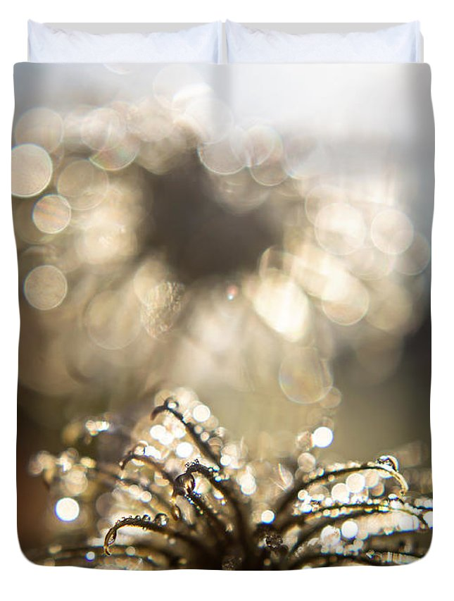 Nature Duvet Cover featuring the photograph Sparkly Seedheads by Montez Sattman