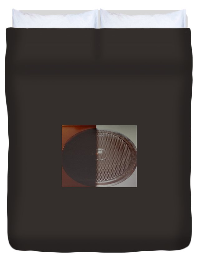 Abstract Duvet Cover featuring the photograph Speaker by Rob Hans