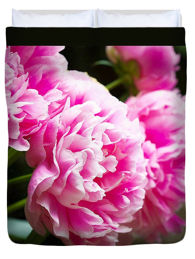 Peony Duvet Cover featuring the photograph Special Beauty by Lisa Bell