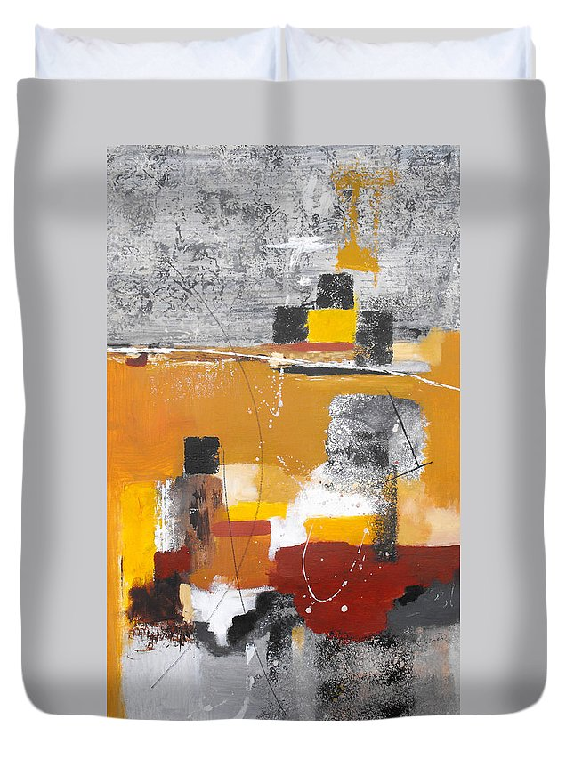 Abstract Duvet Cover featuring the painting Special Circumstances II by Ruth Palmer