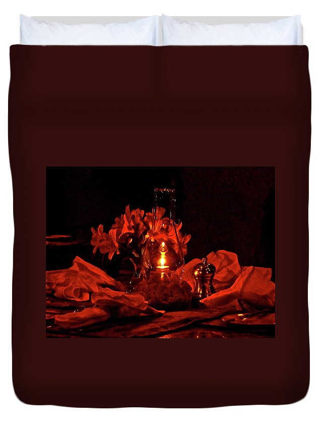 Candle Duvet Cover featuring the photograph Special Occasion by Diana Hatcher