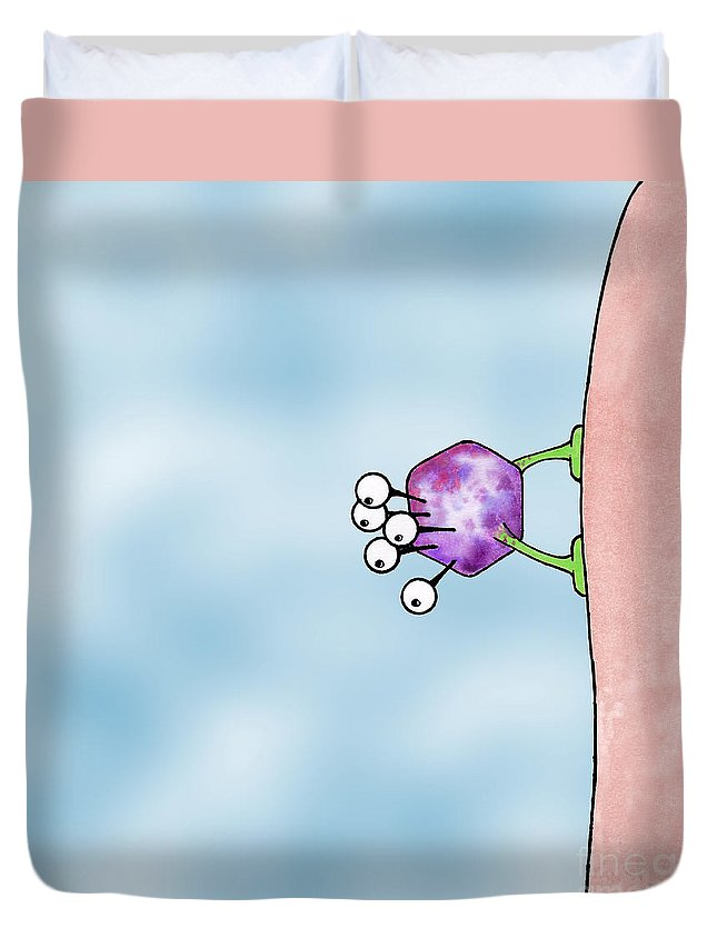 Art Duvet Cover featuring the digital art Speck by Uncle J's Monsters