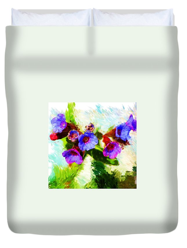 Abstract Duvet Cover featuring the photograph Speckled Trout The Flower by David Lane