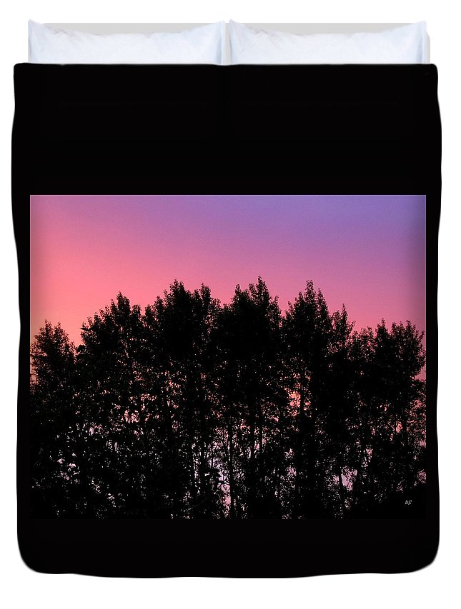 Silhouette Duvet Cover featuring the photograph Spectacular Silhouette by Will Borden