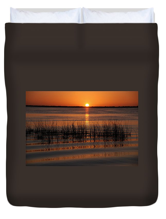 Sunset Duvet Cover featuring the photograph Spectacular Sunset by Susanne Van Hulst