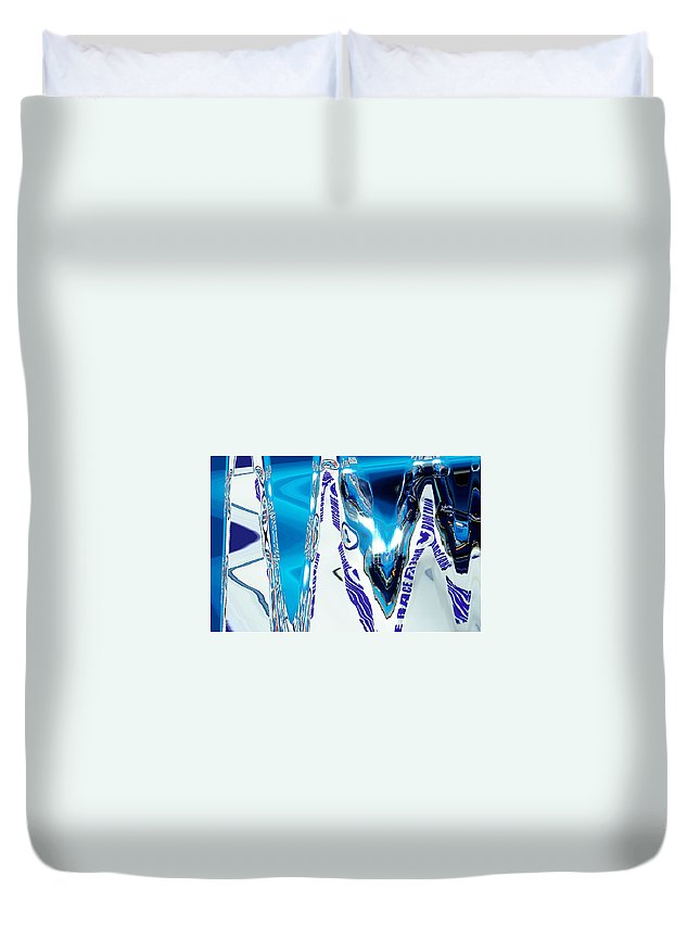 Abstract Duvet Cover featuring the digital art Speedway-america The Addicted Series by Lenore Senior