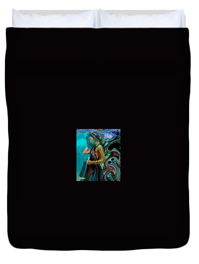 Beautiful Women Duvet Cover featuring the digital art Spell Of A Woman by Seth Weaver
