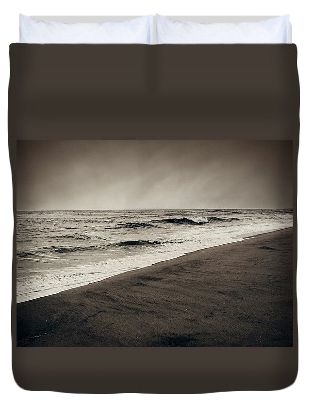 Ocean Duvet Cover featuring the photograph Spending My Days Escaping Memories by Dana DiPasquale