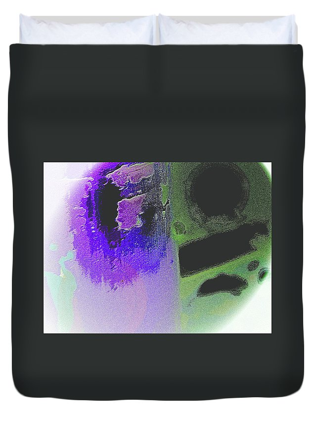 Abstract Duvet Cover featuring the digital art Spheres by Lenore Senior