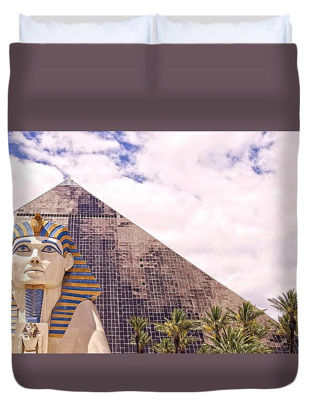 Alicegipsonphotographs Duvet Cover featuring the photograph Sphinx Clouds by Alice Gipson