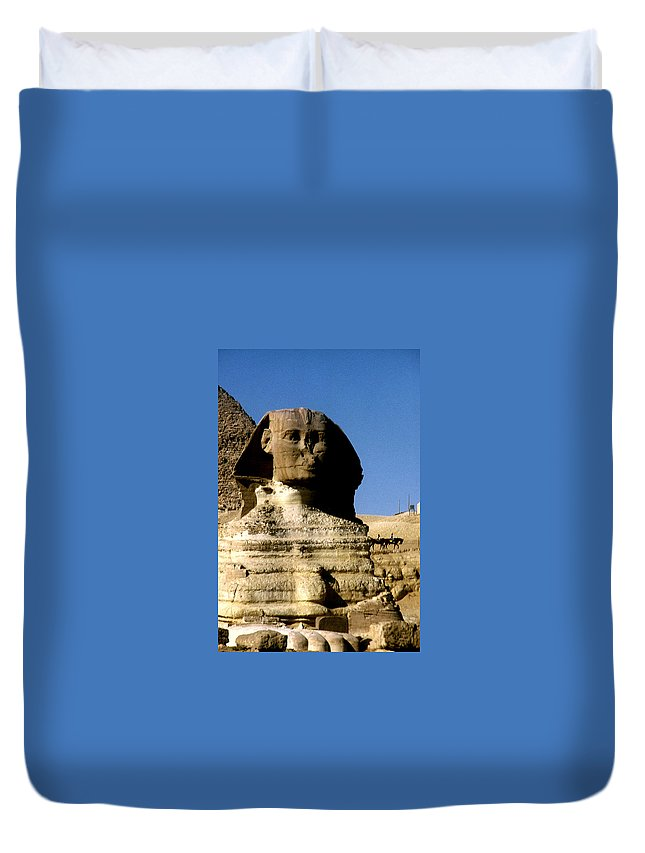 Sphinx Duvet Cover featuring the photograph Sphinx by Gary Wonning