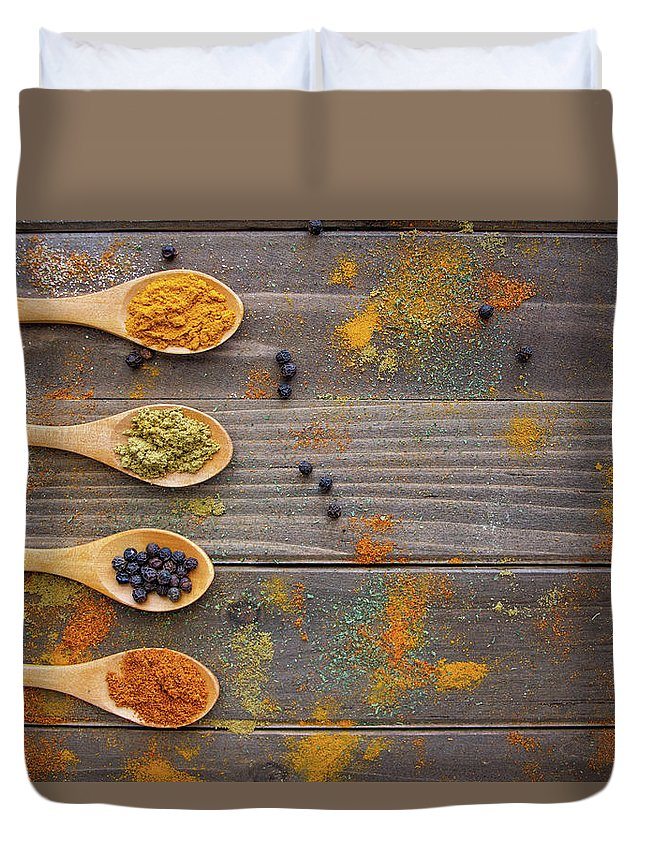 Spices Duvet Cover featuring the photograph Spices by Brenda Mardinly
