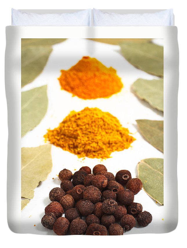 Curry Duvet Cover featuring the photograph Spices by Gaspar Avila