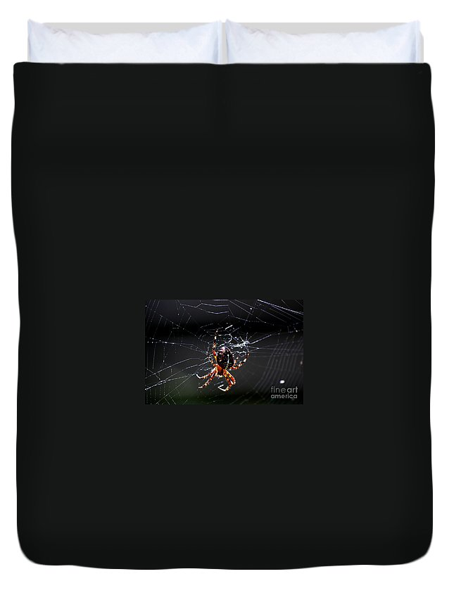 Digital Photo Duvet Cover featuring the photograph Spider by David Lane