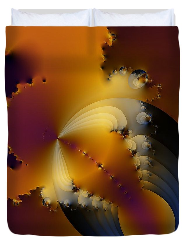 Water Spillage Duvet Cover featuring the digital art Spillage by Solomon Barroa