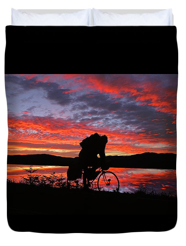The Walkers Duvet Cover featuring the photograph Spinning The Wheels Of Fortune by The Walkers