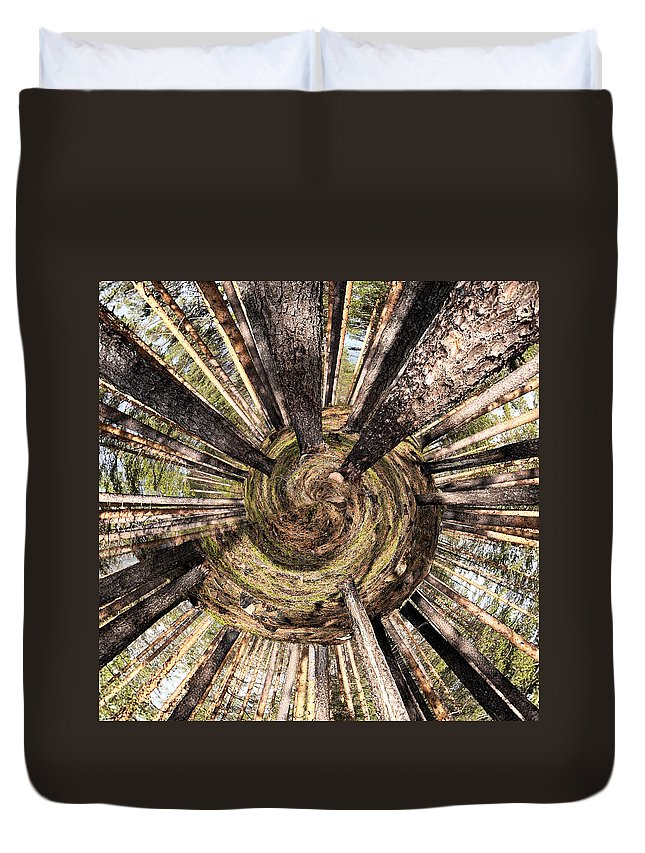 Lehtokukka Duvet Cover featuring the photograph Spiral Of Forest by Jouko Lehto