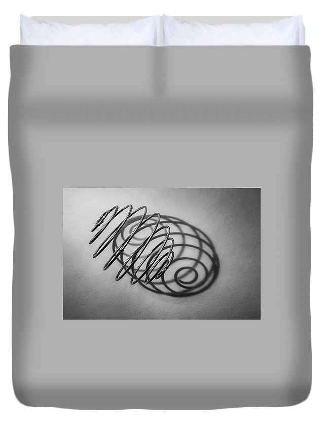 Scott Norris Photography Duvet Cover featuring the photograph Spiral Shape And Form by Scott Norris