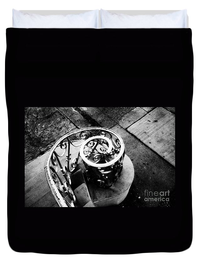 Spiral Staircase Duvet Cover featuring the photograph Spiral Staircase by David Lee Thompson