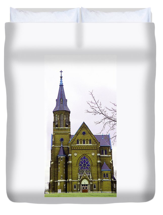 Spire Duvet Cover featuring the photograph Spire by Albert Stewart