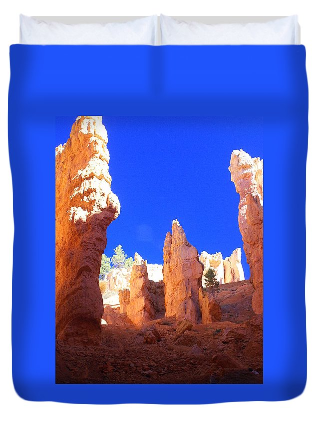 Bryce Canyon National Park Duvet Cover featuring the photograph Spires by Marty Koch