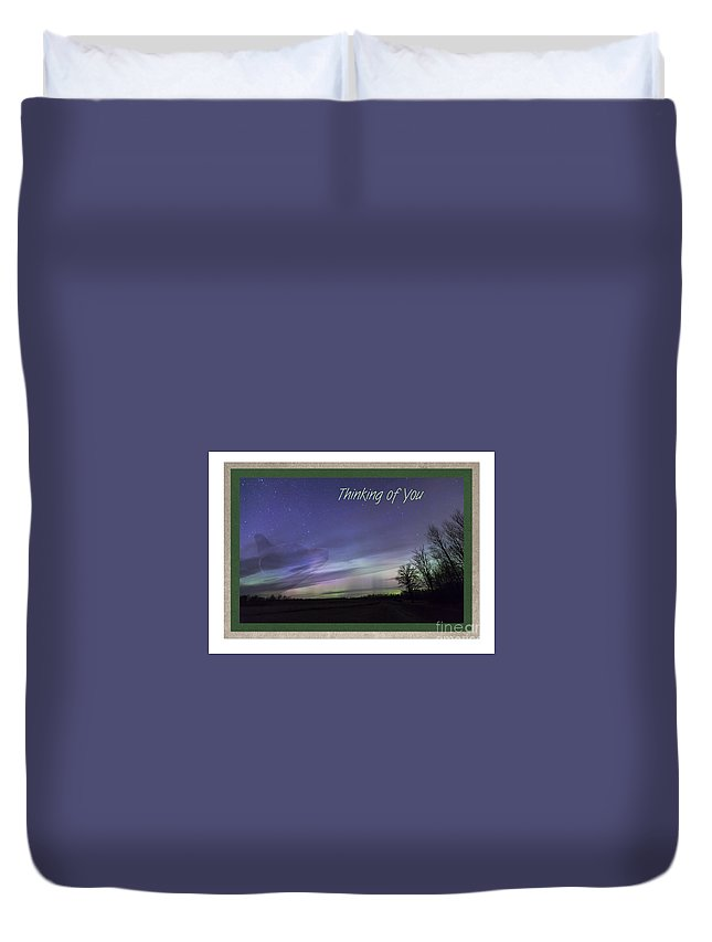 Card Duvet Cover featuring the photograph Spirit Bear Collection-1 by Donna Crider