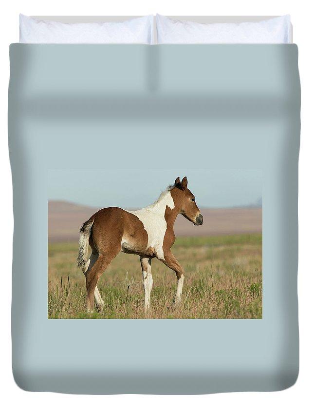 Horse Duvet Cover featuring the photograph Spirit by Kent Keller