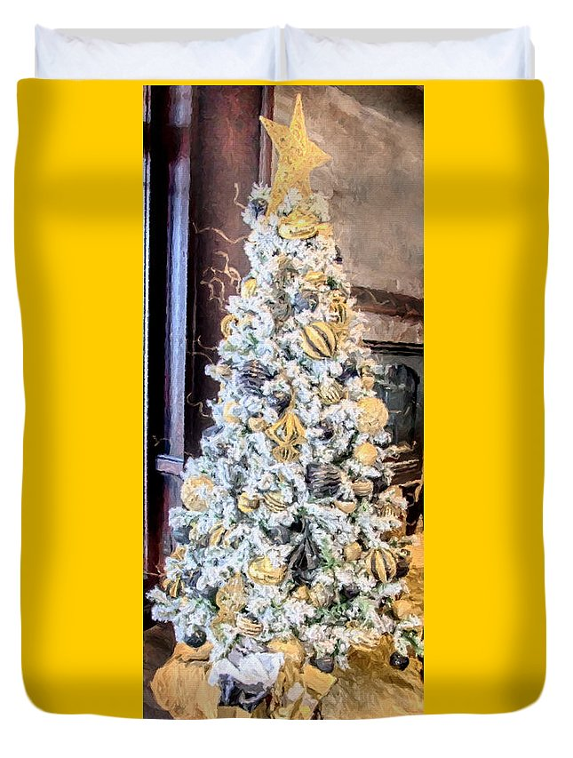 Christmas Duvet Cover featuring the painting Spirit Of Christmas by David Millenheft
