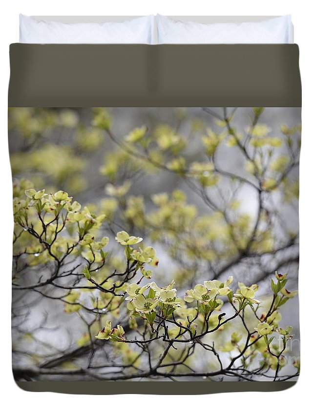 Spirit Of The Dogwood Duvet Cover featuring the photograph Spirit Of The Dogwood by Maria Urso