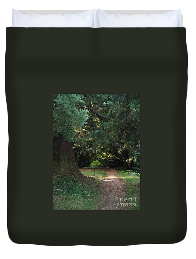 Arthur Findlay College Duvet Cover featuring the photograph Spirit Orbe by Lizzy Forrester