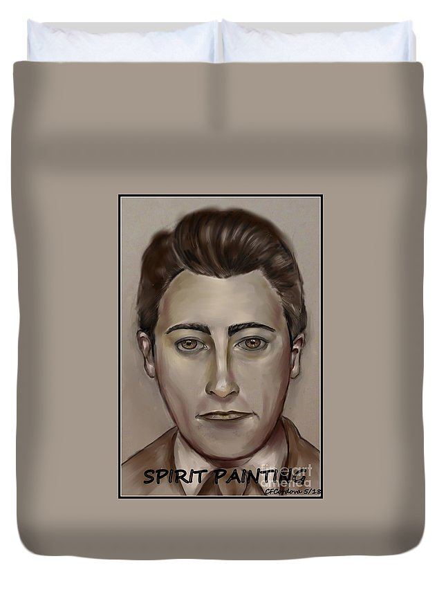 Spirit Painting Duvet Cover featuring the digital art Spirit Painting Collection by Carmen Cordova