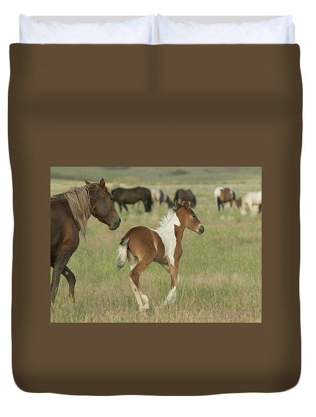 Horse Duvet Cover featuring the photograph Spirit Run by Kent Keller