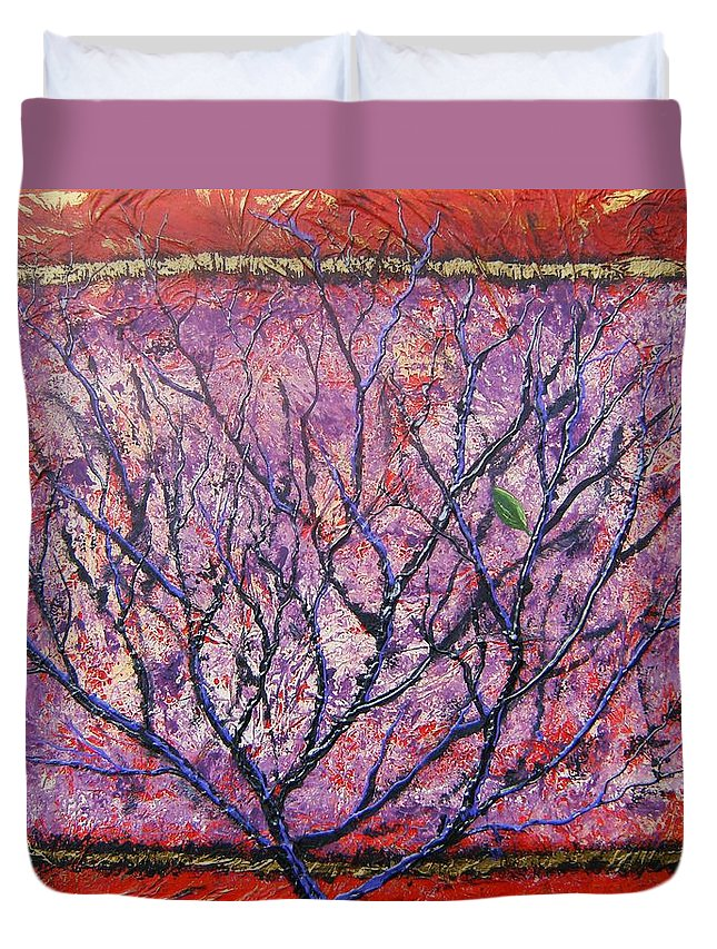 Nature Duvet Cover featuring the painting Spirit Tree 6 by Tami Booher