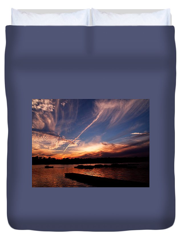 Sky Duvet Cover featuring the photograph Spirits In The Sky by Gaby Swanson