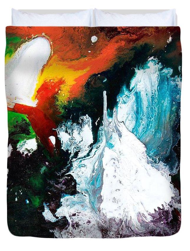 Splash Duvet Cover featuring the photograph Splash by Your Gift Emporium