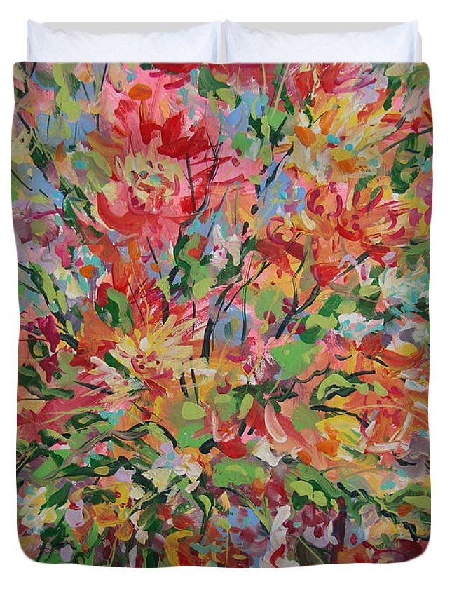 Painting Duvet Cover featuring the painting Splendor. by Leonard Holland