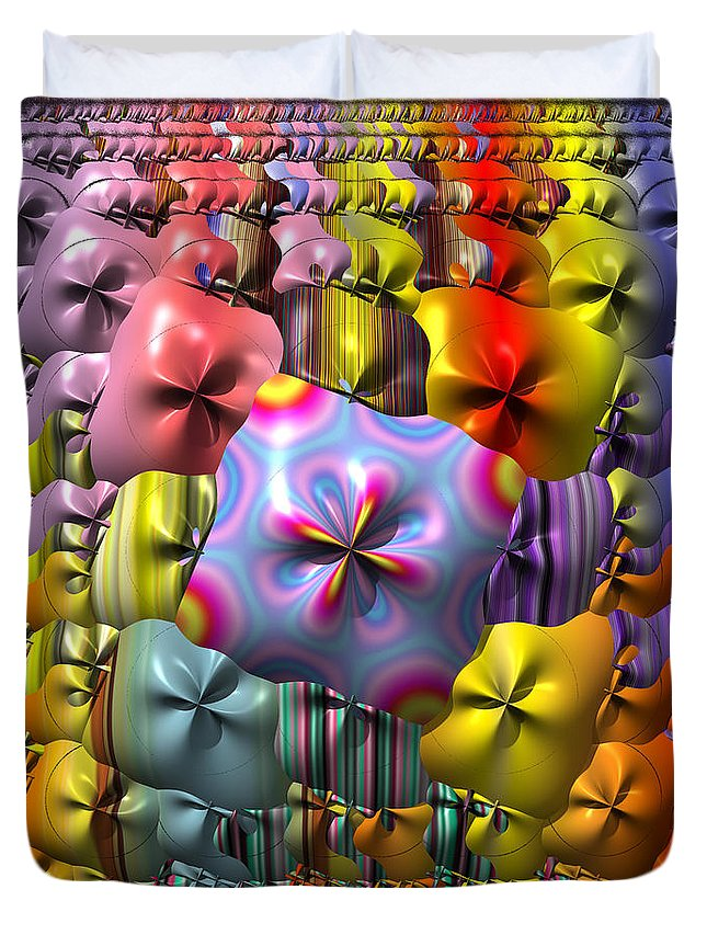 Sploosh Duvet Cover featuring the painting Sploosh by Mark W Ballard