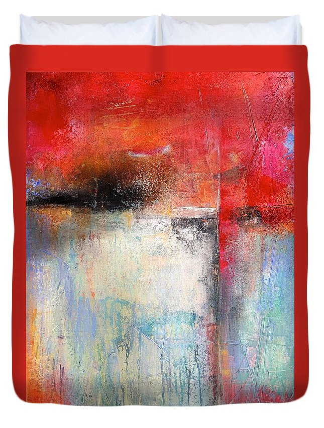 Modern Duvet Cover featuring the painting Spontaneous by Karen Hale