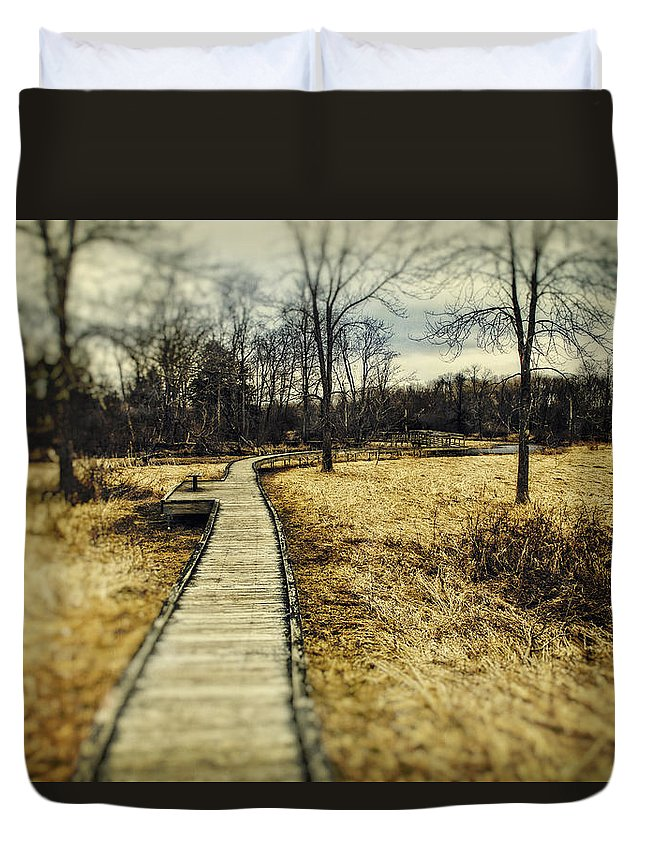 Appalachian Trail Duvet Cover featuring the photograph Spooky Hike On The Appalachian Trail by John Prause
