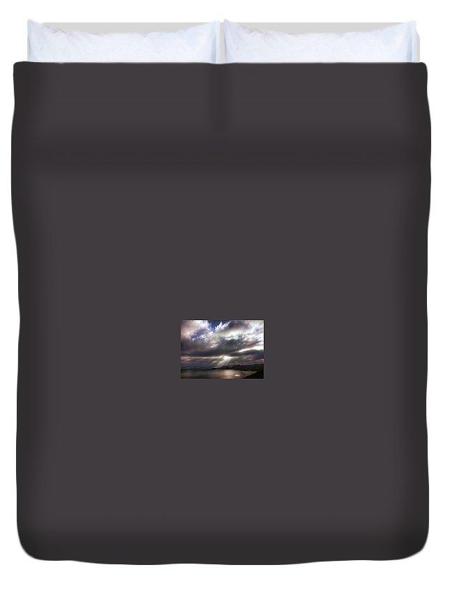 Marin Headlands Duvet Cover featuring the photograph Spot O' Sun by Michael McGowan