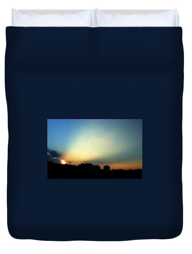 Nature Duvet Cover featuring the photograph Spotlight by Daniel Csoka