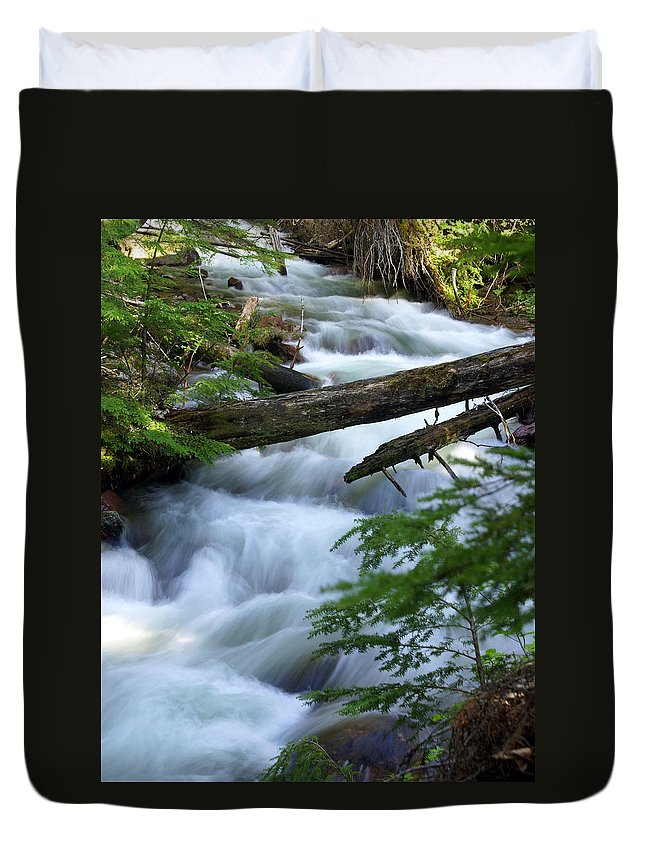 Glacier National Park Duvet Cover featuring the photograph Sprague Creek Glacier National Park by Marty Koch