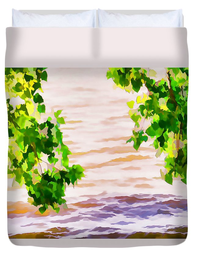 Summer Duvet Cover featuring the painting Spring 2 by Jeelan Clark