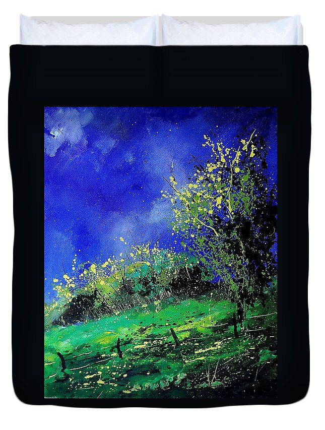 Spring Duvet Cover featuring the painting Spring 459060 by Pol Ledent