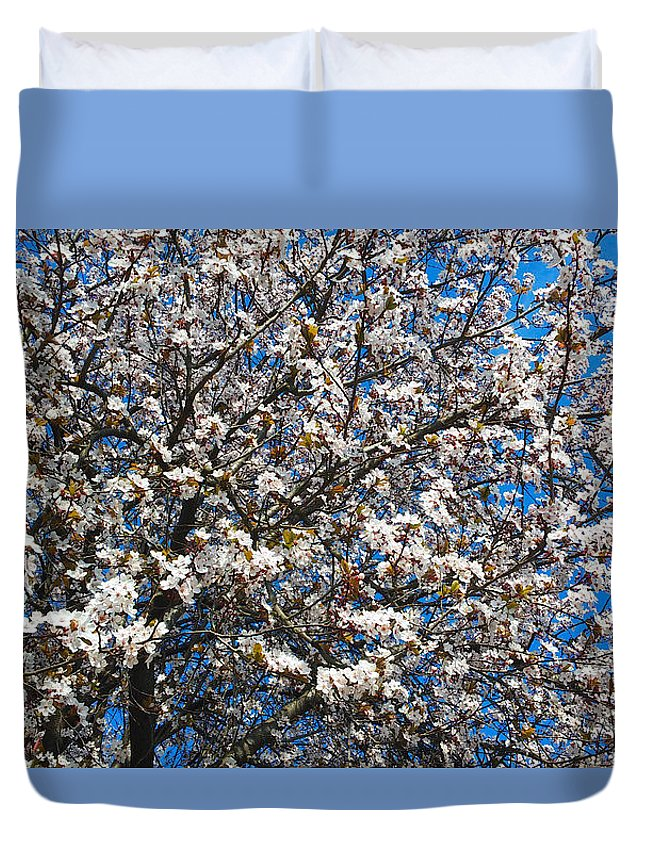 Floral Duvet Cover featuring the photograph Spring As Rhapsody by Jasna Dragun