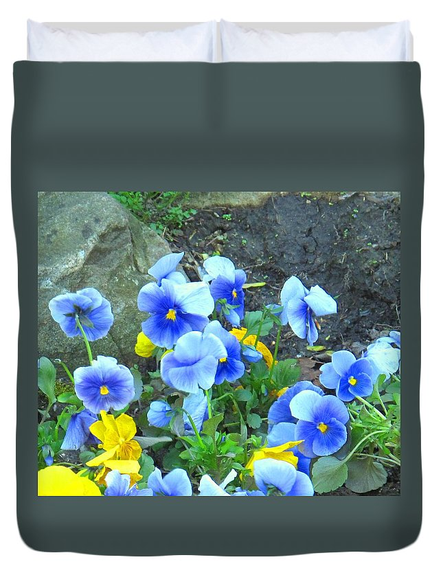 Blue Duvet Cover featuring the photograph Spring Beauties by Ian MacDonald