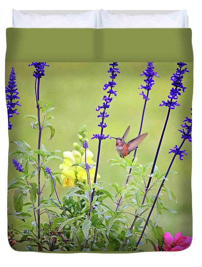 Gardens Duvet Cover featuring the photograph Spring Beauties In The Garden by Lynn Bauer