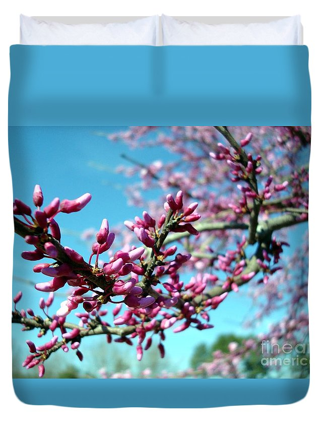 Flowers Duvet Cover featuring the photograph Spring Bliss by Kathy Bucari