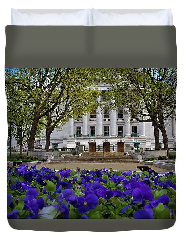 Flowers Duvet Cover featuring the photograph Spring Bloom by Rockland Filmworks